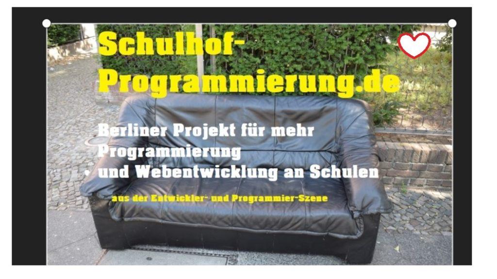 schulhof-programmierung. kostenloses EDV-Material für schulen