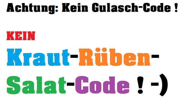 code trennen
