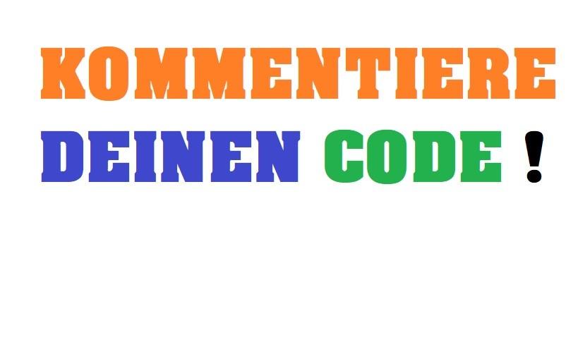 Kommentiere deinen Code- Programmieren für Anfänger- Wie programmiert man eine App