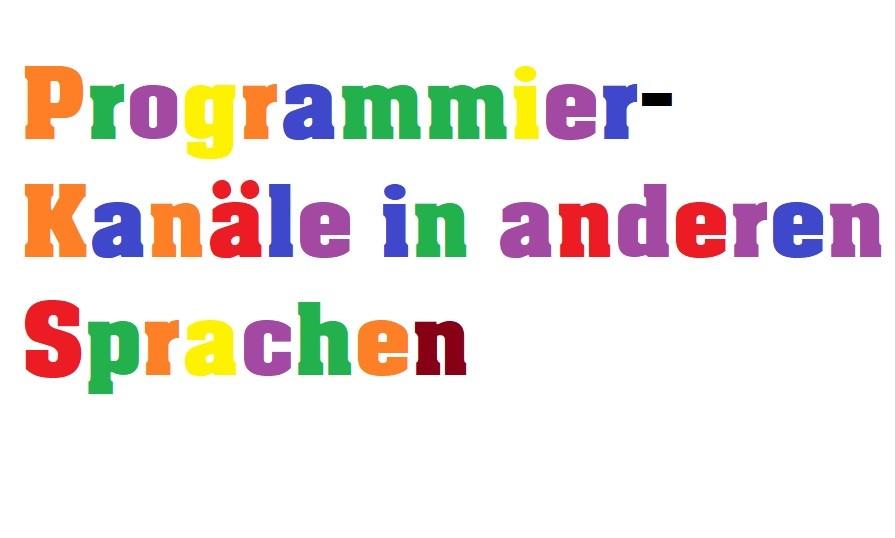 Programmiersprachen lernen