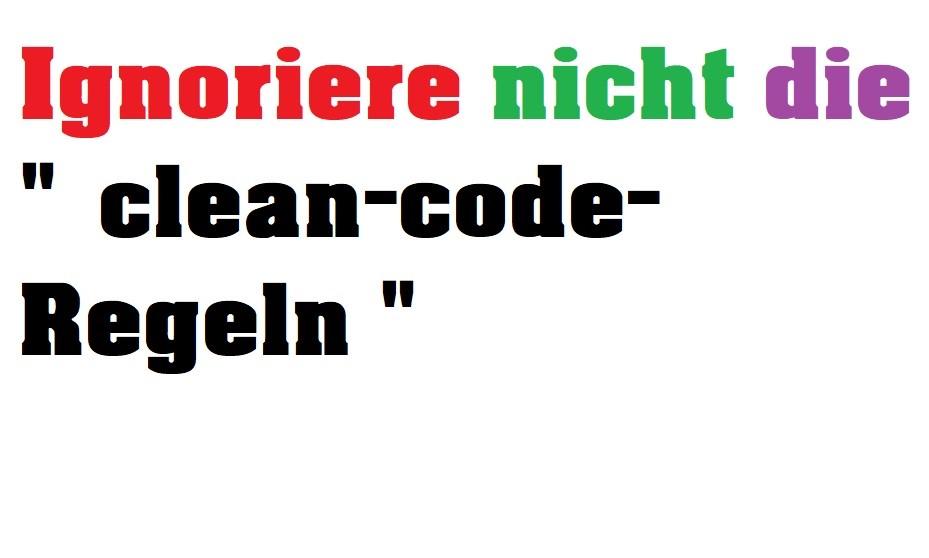 clean-code-regeln